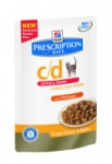 Hill's Prescription Diet Feline c/d urinary stress kurczak 85g