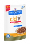 Hill's Prescription Diet Feline c/d urinary stress łosoś 85g